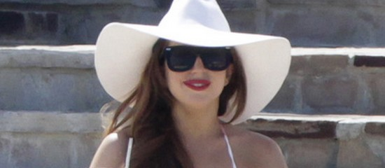 EXCLUSIVE: Lady Gaga and her friends enjoy sunshine and lemonade in Mexico