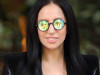 Lady Gaga wearing reflective sunglasses
