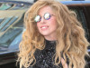 Lady GaGa goes to the studio in New York City