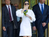 Lady Gaga leaves her apartment to go to the MTV Video Music Awards in NYC