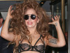 Lady Gaga spotted in a see-through jumpsuit as she is seen leaving her apartment building in New York City