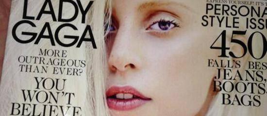 Lady Gaga en couverture de Elle US