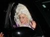 Lady Gaga in a crazy outfit after SNL rehearsals