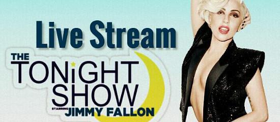 Lady Gaga dans The Tonight Show