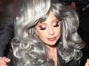 Lady Gaga is seen leaving her hotel in Milan