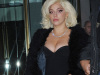 Singer Lady Gaga leaves her midtown apartment with her dog