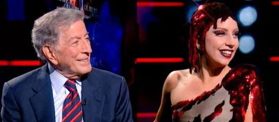 Lady Gaga et Tony Bennett au Colbert Report