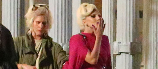 Lady Gaga sur le tournage d'American Horror Story