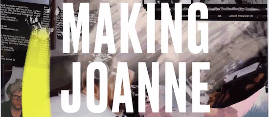 Making Joanne