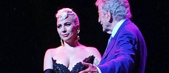 Lady Gaga sur scène avec Tony Bennett