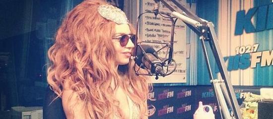 Lady Gaga chez Kiss FM