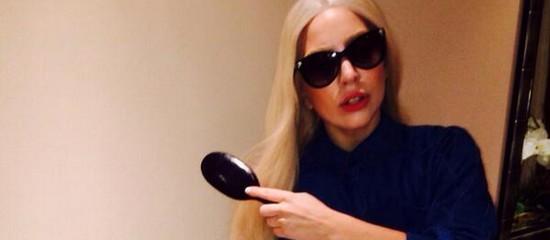 Lady Gaga au concert de Britney Spears