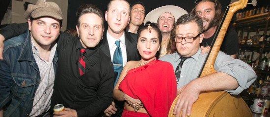 Lady Gaga au club Rivington F+B