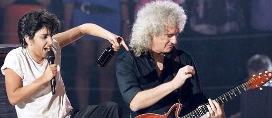 Lady Gaga au show de Queen & Adam Lambert