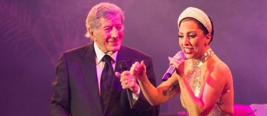 Lady Gaga et Tony Bennett à Bruxelles le 22 septembre
