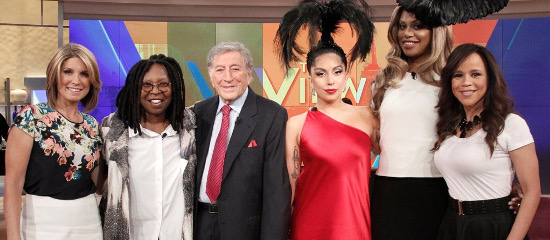 Lady Gaga et Tony à The View