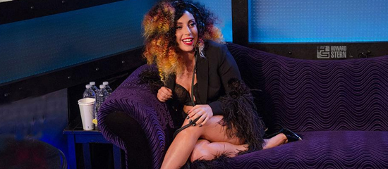 Lady Gaga chez Howard Stern
