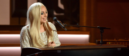 Lady Gaga au concert pour Stevie Wonder