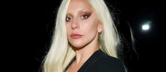 Lady Gaga au défilé de Brandon Maxwell