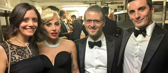 Lady Gaga au gala de la Columbus Foundation