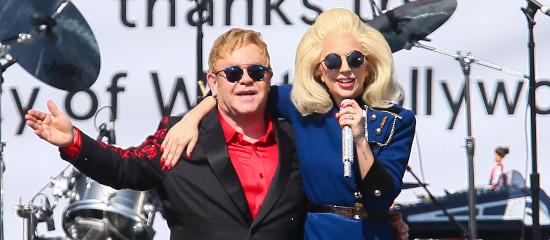 Lady Gaga au concert d'Elton John