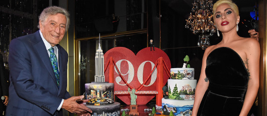 Lady Gaga à l'anniversaire de Tony Bennett