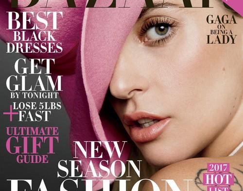 Lady Gaga en couverture de Harper's Bazaar