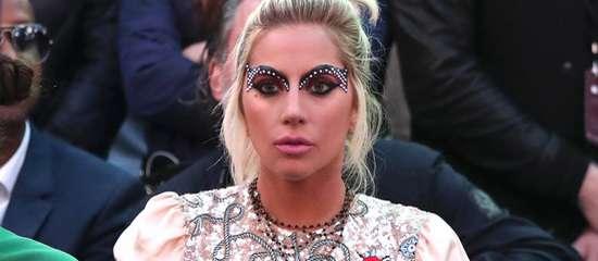 Lady Gaga au défilé de Tommy Hilfiger