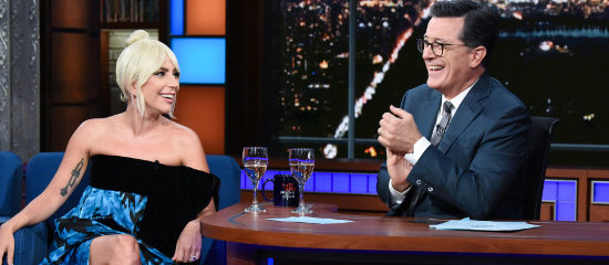 Lady Gaga au Late Show avec Stephen Colbert