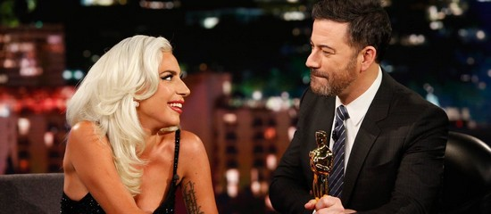 Lady Gaga chez Jimmy Kimmel