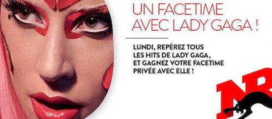 NRJ – Gagne un Facetime avec Lady Gaga