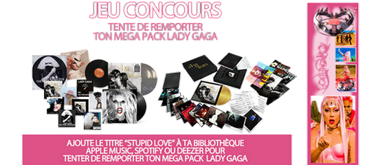 Concours Polydor – Gagne ton PACK Lady Gaga